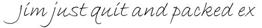 ITC Bradley Hand Italic sample