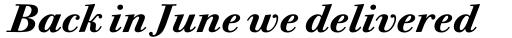 ITC Bodoni Twelve Pro Bold Italic sample