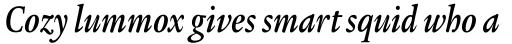 Legacy Serif Std Bold Condensed Italic sample