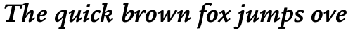 Legacy Square Serif Pro Bold Italic sample