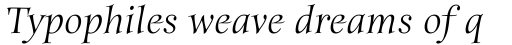 ITC Anima Italic sample
