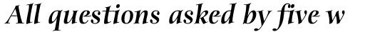 ITC Anima Black Italic sample