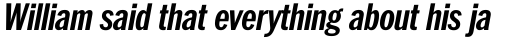 ITC Franklin Std Condensed Bold Italic sample