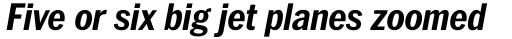 ITC Franklin Std Narrow Bold Italic sample