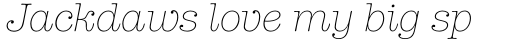 ITC American Typewriter Pro Light Italic sample