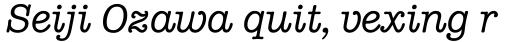 ITC American Typewriter Pro Medium Italic sample