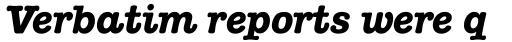 ITC American Typewriter Pro Bold Italic sample