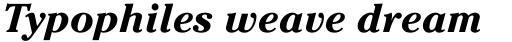 ITC Cheltenham Pro Bold Italic sample