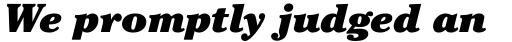 ITC Cheltenham Pro Ultra Italic sample