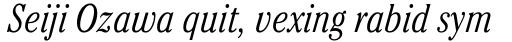 ITC Cheltenham Pro Condensed Light Italic sample