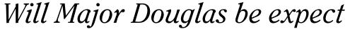 ITC Clearface Pro Italic sample