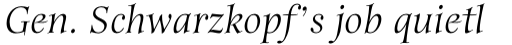 ITC Anima Std Italic sample