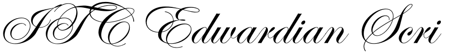 Click to view  ITC Edwardian Script font, character set and sample text
