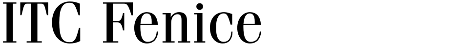 Click to view  ITC Fenice font, character set and sample text