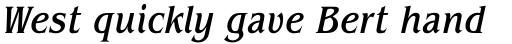 ITC Benguiat Pro Condensed Medium Italic sample