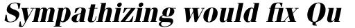 ITC Fenice Pro Bold Oblique sample
