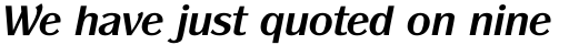 ITC Panache Pro Bold Italic sample
