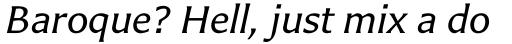 Carter Sans Pro Italic sample