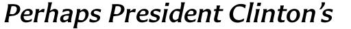 Carter Sans Pro Medium Italic sample