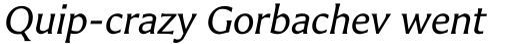 Carter Sans Std Italic sample