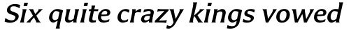 Carter Sans Std Medium Italic sample