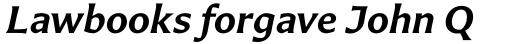 Carter Sans Std SemiBold Italic sample