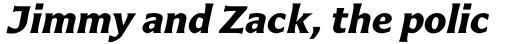 Carter Sans Std Bold Italic sample