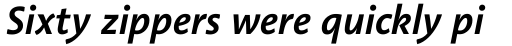 Linotype Aroma No. 2 Com Semibold Italic sample