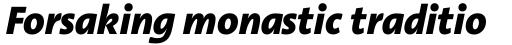 Linotype Aroma No. 2 Com Extra Bold Italic sample