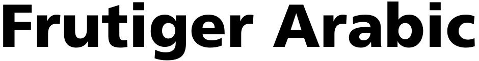 Click to view  Frutiger Arabic font, character set and sample text