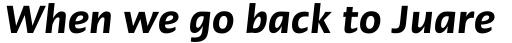 Linotype Ergo Com Demi Condensed Italic sample