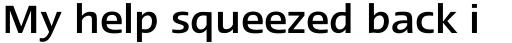 Linotype Ergo Paneuropean Medium sample