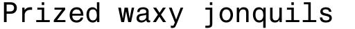 Helvetica Monospaced Paneuropean Roman sample
