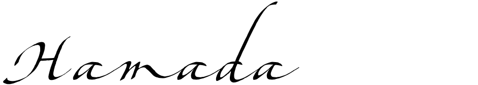 Click to view  Hamada font, character set and sample text
