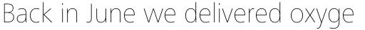 Frutiger Next Pro Ultra Light sample
