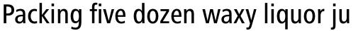 Frutiger Next Pro Condensed Medium sample