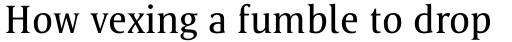 Satero Serif Pro Regular sample