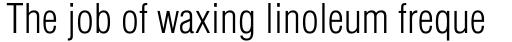 Helvetica Light Condensed sample
