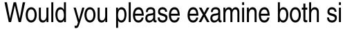 Helvetica Narrow Roman sample