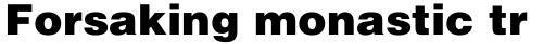 Helvetica Black sample