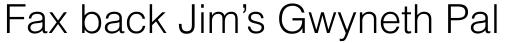 Helvetica Light sample