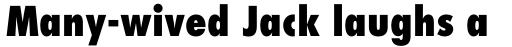 Futura Pro Condensed ExtraBold sample