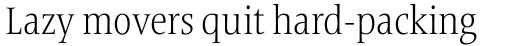 Frutiger Serif Pro Condensed Light sample