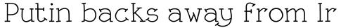 Linotype Rough Com Regular sample