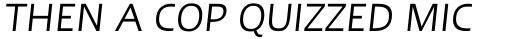 Linotype Ergo Hebrew Italic sample