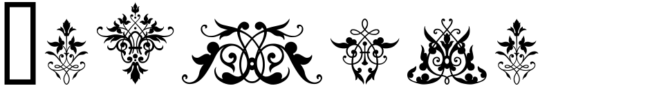 Click to view  Victorian Ornaments font, character set and sample text