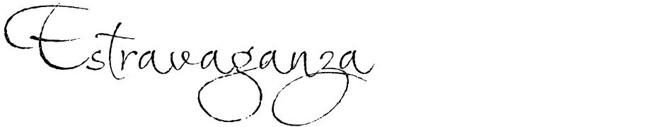 Click to view  Estravaganza font, character set and sample text