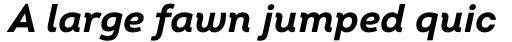 Intro Bold Italic sample