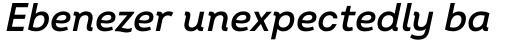 Intro SemiBold Italic sample