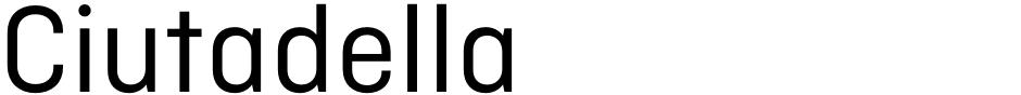 Click to view  Ciutadella font, character set and sample text
